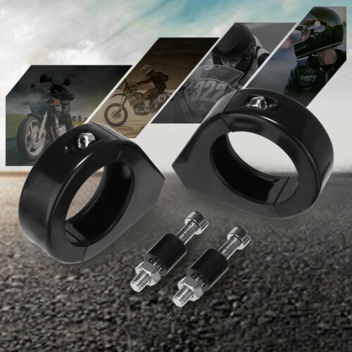 Turn Signal 39mm Fork Relocation Clamps Mount Bracket For Harley Sportster Dyna