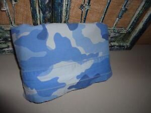 Pottery Barn Kids Army Blue Twin Flat Sheet Blue