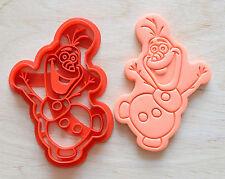 Disney Frozen Olaf Snowman Cookie Cutter - 3d printed plastic