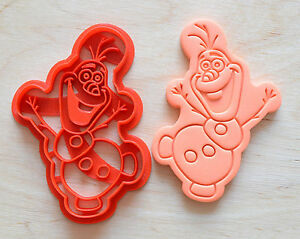 Disney Frozen Olaf Snowman Cookie Cutter - 3d printed plastic