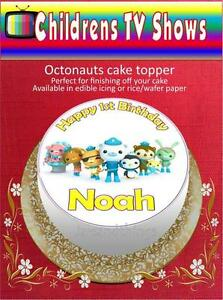 Personalised Octonauts Cake Topper on Edible Icing or Rice Paper eBay