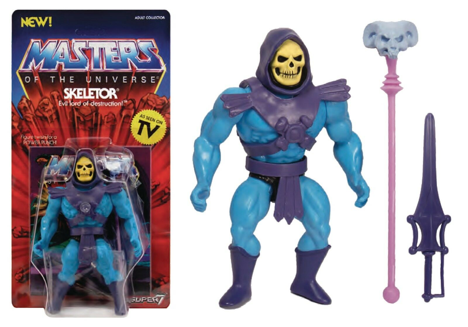 He-Man Masters Of The Universe MOTU  Classics Neo Vintage Super7 Skeletor MISB c