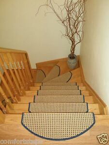 Set of 15 Beautiful Carpet Stair Mat Stair Treads made in Europe