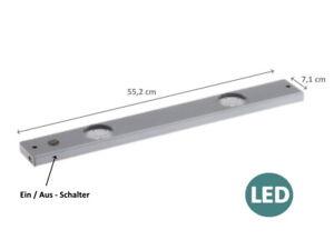 Unterbauleuchte-LED-230V-Lichtleiste-Kueche-Lampe-Schrank-Beleuchtung-55-cm