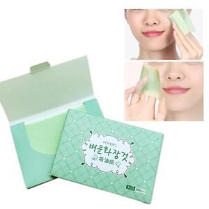 100-Sheet-Facial-Oil-Control-Absorbing-Tissue-Face-Skin-Blotting-Green-Tea-Paper