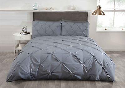 Silbergrau Biesen Baumwollmischung Einzelbett Bettbezug Mild And Mellow Bettwäsche