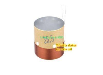 2pcs 35.5mm 8Ω Black aluminum Woofer Voice Coils Round wire Bass Speaker coil