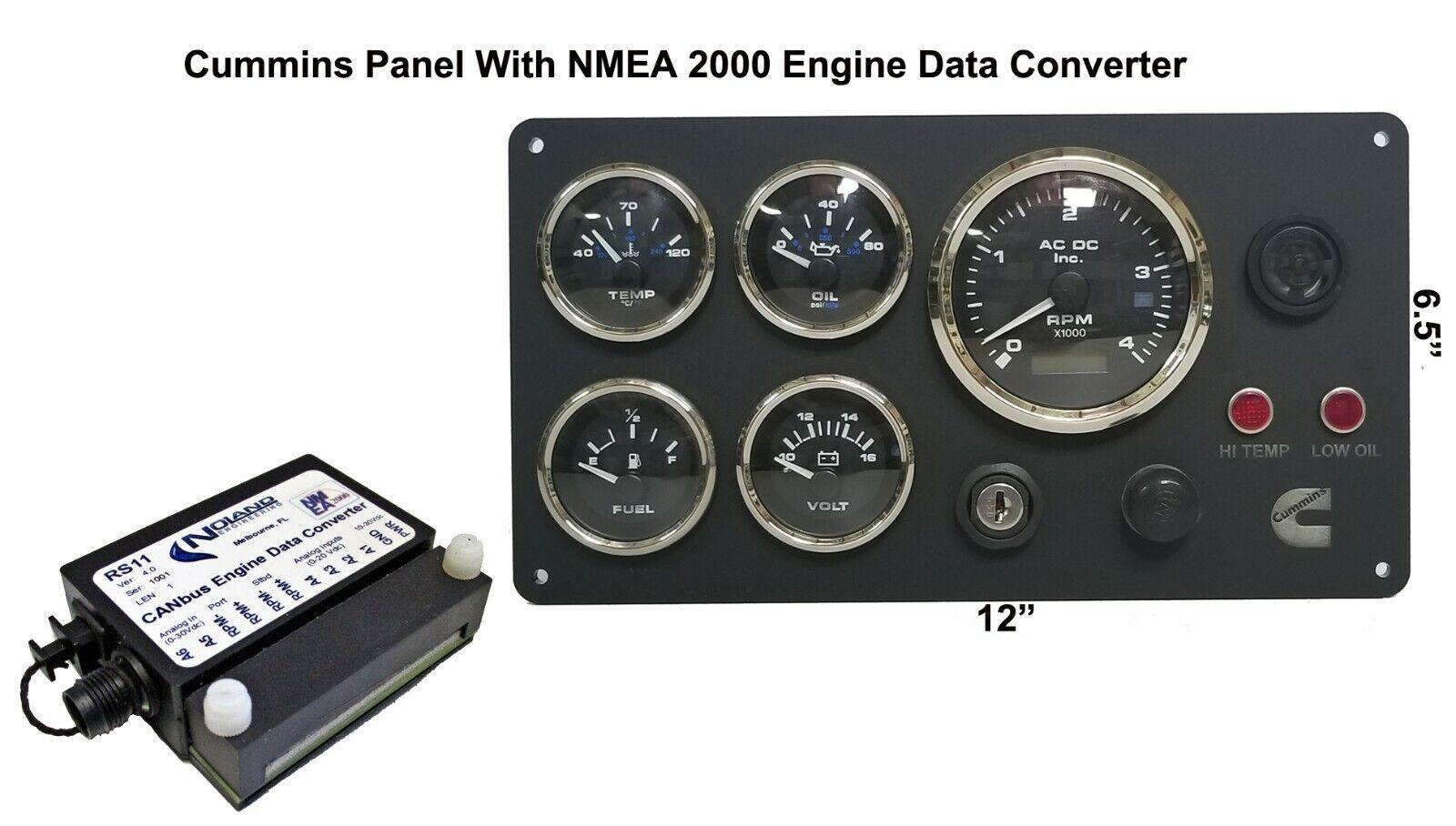 Cummins Marine Instrument Panel mit Nmea 2000 Motor Daten KonGrüner Paket