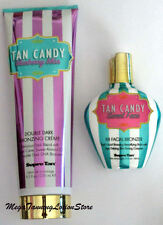 New Supre TAN CANDY double dark bronzer tanning bed lotion + face facial bronzer