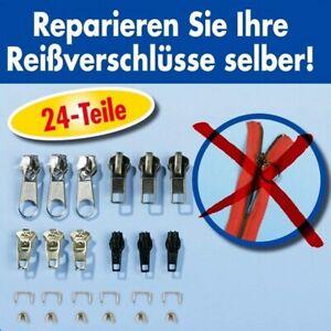 Reißverschluss Reparatur Set 24tlg für Zipper Stopper unten Schieber Ersatzteile