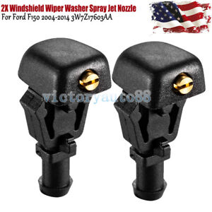 2x Windshield Wiper Washer Fluid Jet Nozzle For Ford F-150 2004-2014 3W7Z17603AA