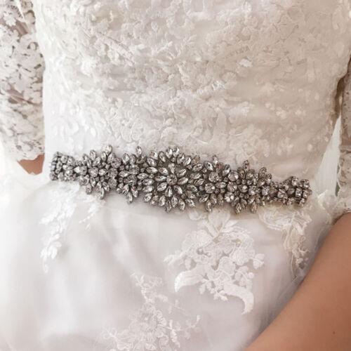 Hot Rhinestones Bridal Sash Wedding Dress Beaded Belt Crystal Waist Belt Party