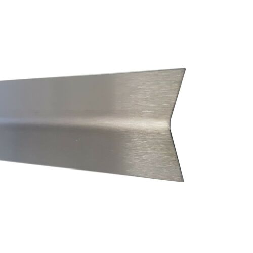 Stainless Steel Angle Edge Protection Stainless Steel 2000 mm K240 0,8 mm 2 Metre Wooden VA