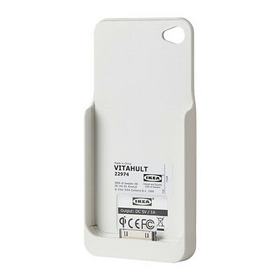 Ikea Vitahult Wireless mobile phone charger case Apple Iphone 4/4S NEW