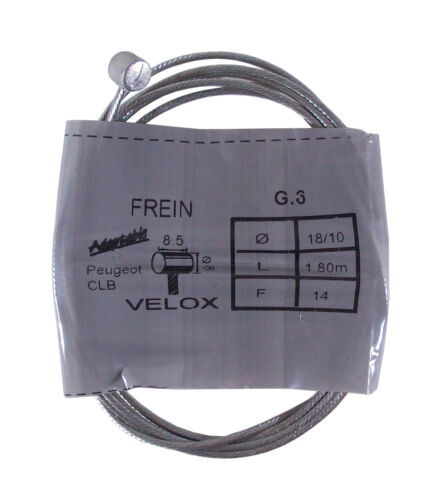 VELOX INNER CABLE REAR BRAKE THROTTLE CLUTCH MOTORCYCLE MOPED PEUGEOT CLB 1.8m