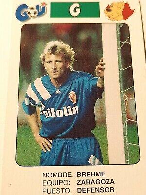 #A03 CARTE PANINI FOOTBALL CARD 1995 ANDREAS BREHME FC KAISERSLAUTERN ALLEMAGNE