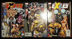 Exiles-55-56-57-2005-Marvel-VF-Bump-in-the-Night-Parts-1-3-Set-Blink-Morph