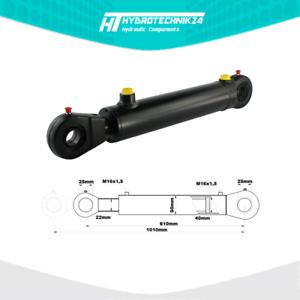 Hydraulikzylinder-Doppelwirkend-DW-Zylinder-40-22-400-Hub-mit-Gelenkaugen-25mm