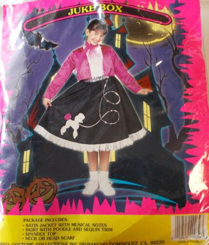 Poodle Dress Juke Box Child Costume S M L NIP