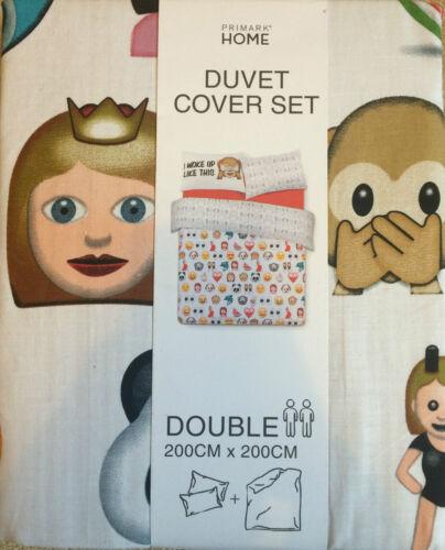 Emoji émoticônes literie /& taie d/'oreiller réversible simple ou double de primark