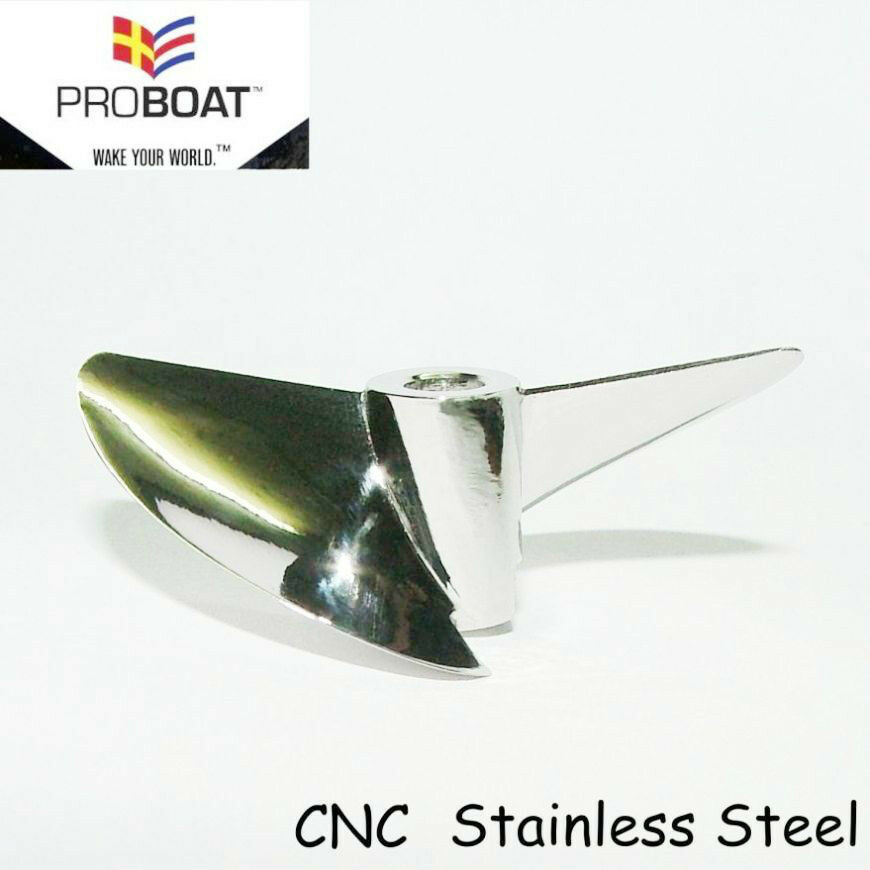 X543 CNC PRO ProBoat, PRO BOAT,  OCTURA STAINLESS STEEL PROPELLER RC BOAT PROP  in linea