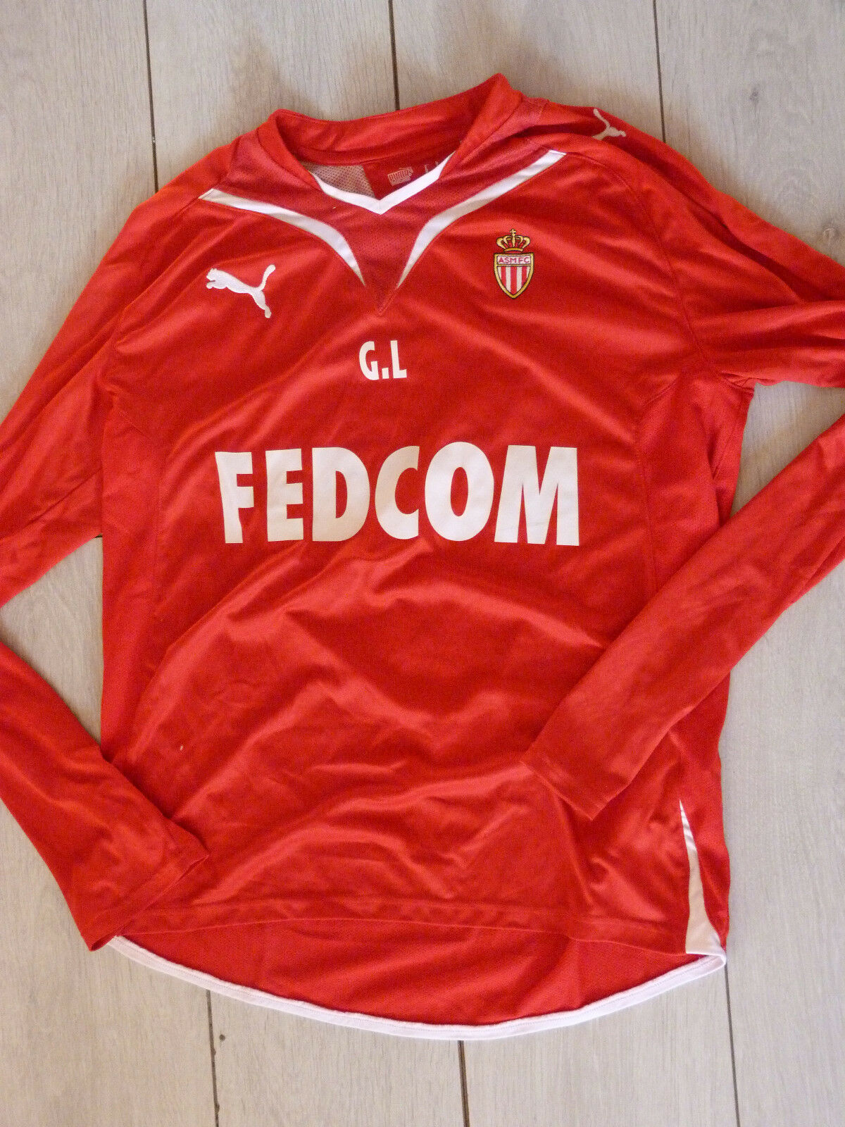 Maillot porté worn jersey GUY LACOMBE asm AS MONACO FC foot ultras