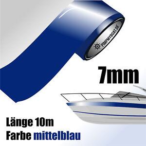 ZIERSTREIFEN-10m-MITTELBLAU-7mm-Auto-Boot-Jetski-blau-signalblau-Dekorstreifen