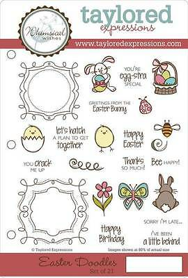TAYLORED EXPRESSIONS  EASTER DOODLES STAMPS  (SET OF 21)  TEFS153   NIP