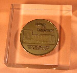 St. Petersburg Times Paperweight - Independent Tampa Florida FL 1971 Bronze