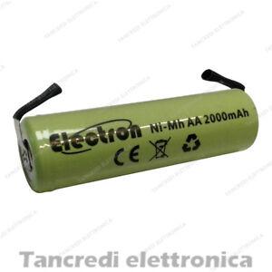 BATTERIA-RICARICABILE-STILO-NI-MH-AA-1-2V-2000mAh-CON-LAMELLE-A-SALDARE-14x50-mm