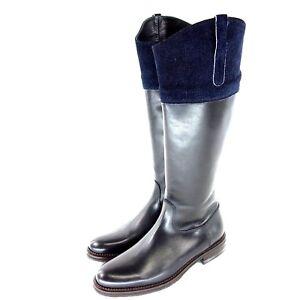 Womens Studio 445 Boots Leather Original Blue Show New Details Title Black Np Lined Pollini About Fur Shoes T153uFJlKc