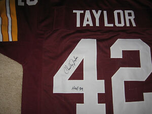 quality design 199b2 02800 Details about Redskins Charley Taylor signed jersey w/COA