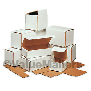 150 - 11 1/2 x 3 1/2 x 3 1/2 White Corrugated Shipping Packing Box Boxes Mailers