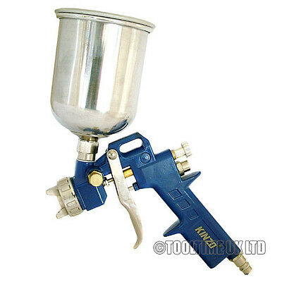 KINZO AIR GRAVITY FEED PAINT SPRAY GUN WITH 1.5mm NOZZLE AND 500cc METAL CUP