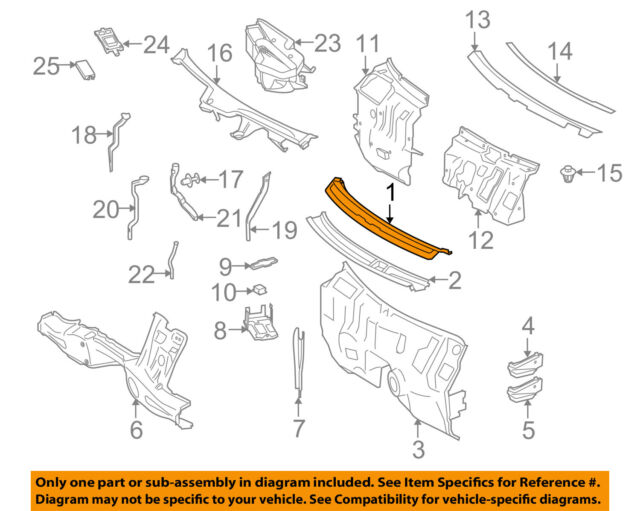 GM OEM-Cowl Panel Windshield Wiper Motor Cover 15043016