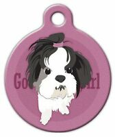 Good Girl Shih Tzu - Custom Personalized Pet Id Tag For Dog And Cat Collars