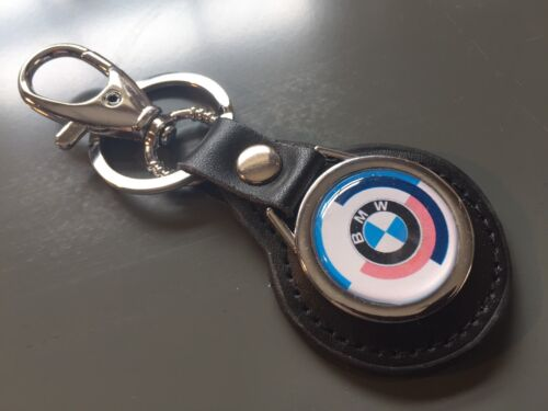 BMW /'Motorsport/' E21 Real Leather Keyring Fob Key High Quality,