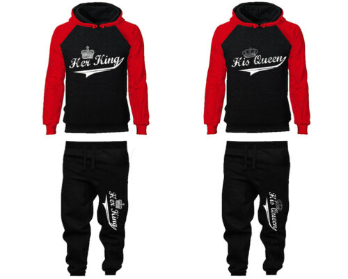 King Queen Couple Joggers Sold Separately Her King His Queen Matching Hoodies