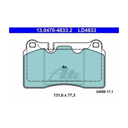Scheibenbremse ATE Ceramic   für VW Seat ATE 13.0470-4833.2 Bremsbelagsatz