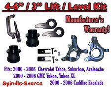 "2000- 2006 Chevrolet GMC 1500  4""-6"" / 3"" Lift Kit Spindles Spacer TOOL Keys EXT"