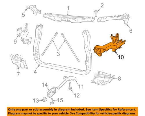Jeep CHRYSLER OEM Grand Cherokee Radiator Core Support-Bracket Left 68223399AA