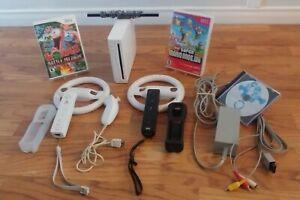 Nintendo Wii Console MARIO KART Bundle - 2 Remotes, Wheels & more ....*Read*