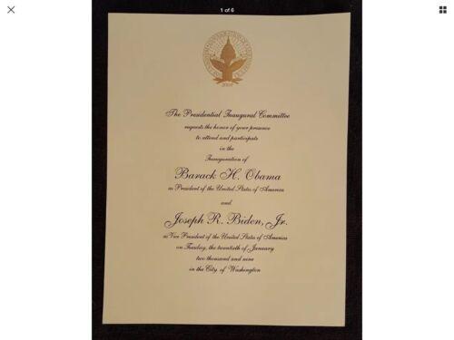 FREE Shipping 2009 Obama Biden Official Inauguration Invitation