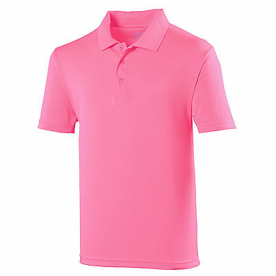 Mens Sports Polo Shirt Golf Lightweight Breathable Wickable Running Training Gym