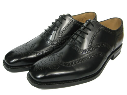 Chaussure ᄄᄂ noir 262b en Budapest brogue bout Pointe carrᄄᆭ Budapest Loake cuir cRL3jq54A