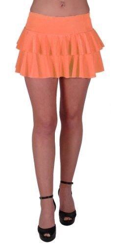 Womens Plain Ruffled Casual Party Club Short Mini Ladies Dress Skirt