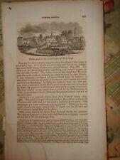 1841 ANTIQUE PRINT RIVERHEAD LONG ISLAND NEW YORK NR