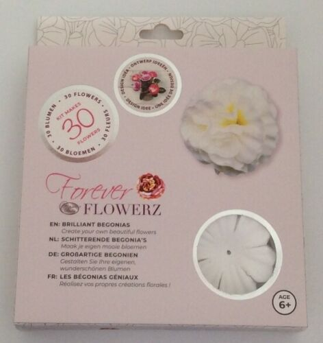 Craft Buddy Forever Flowerz Makes 30 Flowers FF07WH Brilliant Begonias White