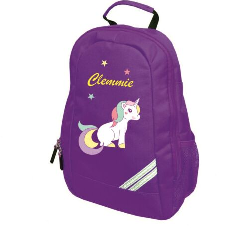 PERSONALISED UNICORN TODDLER KIDS CHILDS BACK PACK GIRLS NURSERY BAG BDAY GIFT
