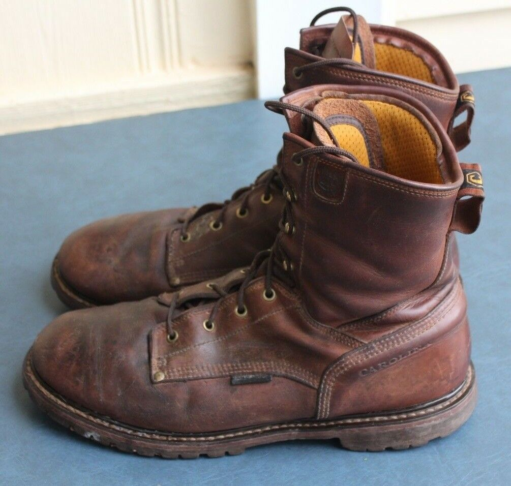 Carolina Mens CA8028 Brown LOGGER WORK BOOTS WATERPROOF size 14D